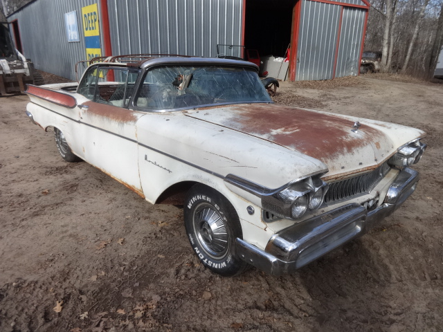 1957 mercury monterey convertible mostly complete arkansas car rusty floors bill of sale 370000 click here for more pictures - Rusty Old Cars For Sale